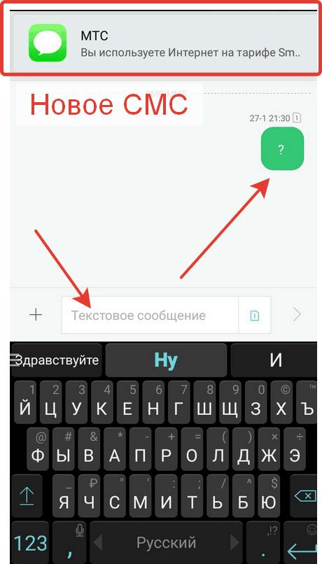 Проверка остатка трафика по SMS